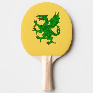 Dragon Rampant Vert Ping Pong Paddle