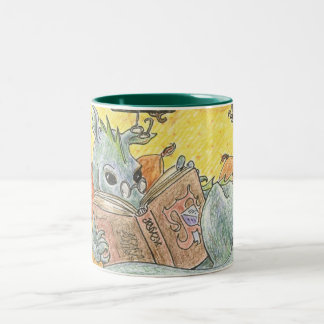 Dragon Reader Two-tone Mug