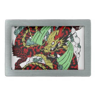 Dragon Rectangular Belt Buckle