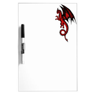 Dragon red dry erase board