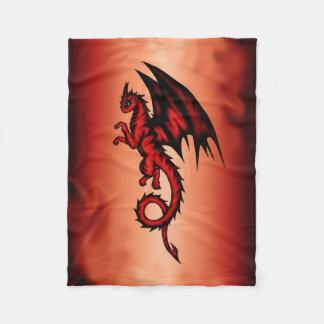 Dragon red fleece blanket