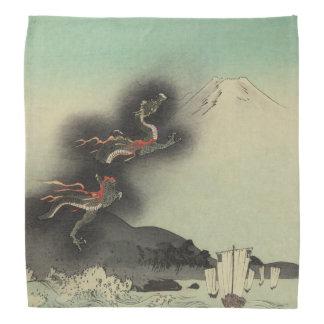 Dragon Rising Over Mount Fuji Bandana