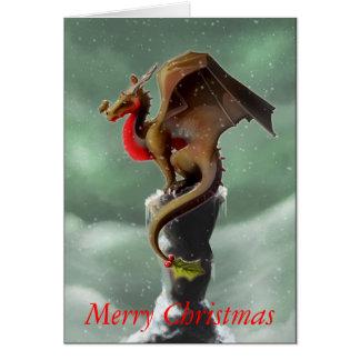 Dragon Robin Christmas Card