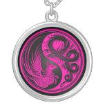 Dragon rose et noir Phoenix Yin Yang Bijouterie