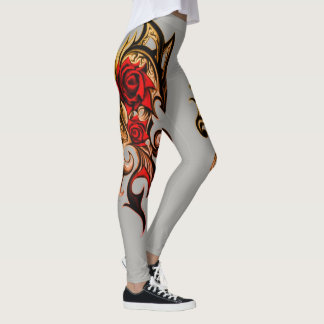 dragon rose of gold leggings