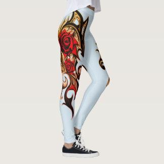 dragon rose of gold leggings
