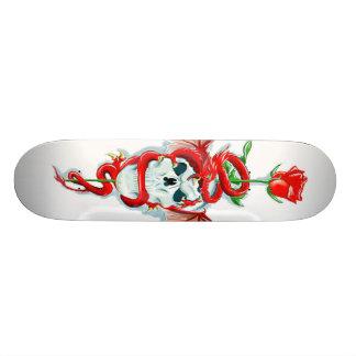 Dragon Rose Skull Skateboard