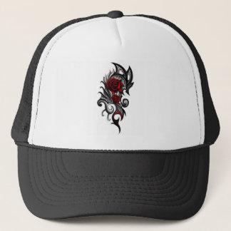 dragon rose trucker hat