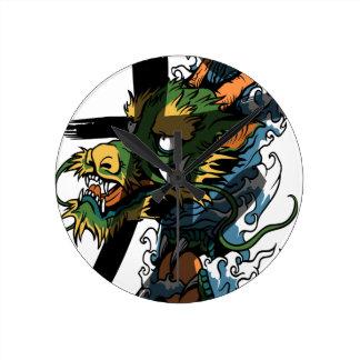 Dragon Round Clock