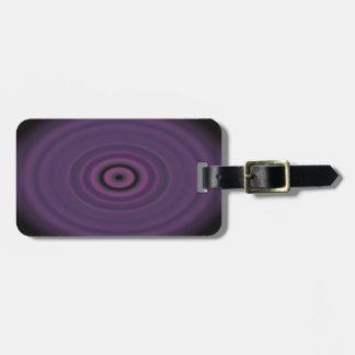Dragon's Eye Purple Luggage Tag