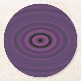 Dragon's Eye Purple Round Paper Coaster