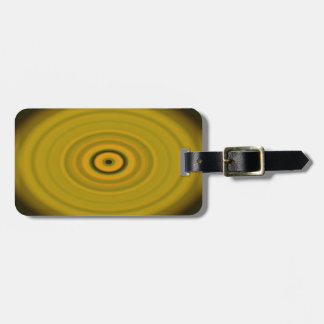 Dragon's Eye Yellow Luggage Tag