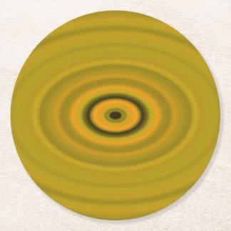Dragon's Eye Yellow Round Paper Coaster