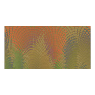 Dragon Scales Abstract Pattern Photo Card Template