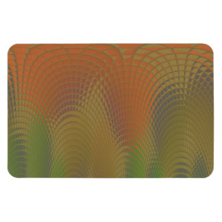 Dragon Scales Abstract Pattern Rectangular Photo Magnet