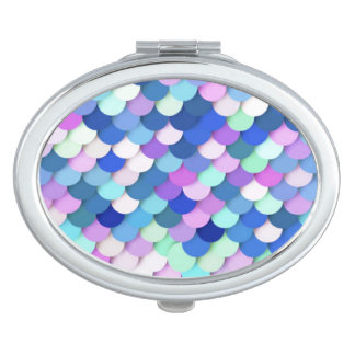 """""""Dragon Scales"""" - blue, orchid and lavender Makeup Mirrors"""