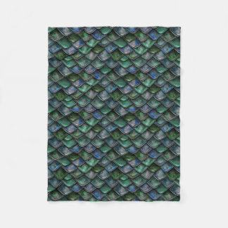 Dragon Scales - emerald Fleece Blanket