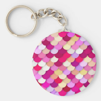"""Dragon Scales"" - magenta, pink and gold Key Chain"