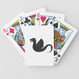 Dragon Silhouette Bicycle Playing Cards