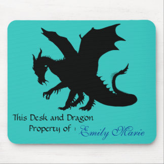 Dragon Silhouette: Desk of Mouse Pad