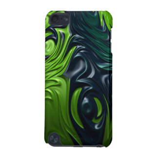 Dragon Skin Blue Green Armor Style Fractal Art iPod Touch (5th Generation) Cover
