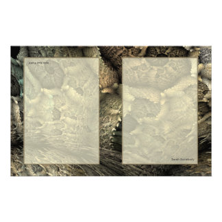 Dragon Skin Fractal Art Notepaper Stationery Paper