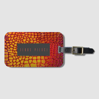 Dragon Skin Look Love This Luggage Tag