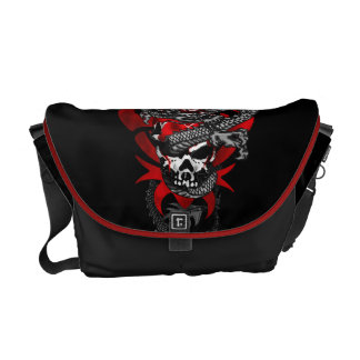 Dragon Skull Messenger Bag - Medium