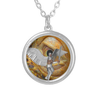 Dragon Slayer 4 Silver Plated Necklace