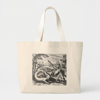 Dragon Slayer Alchemy Emblem Large Tote Bag