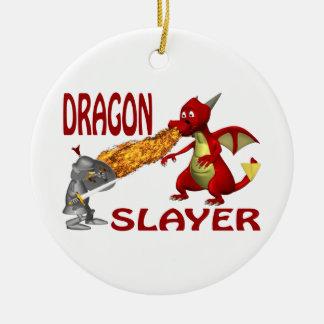 Dragon Slayer Round Ceramic Ornament