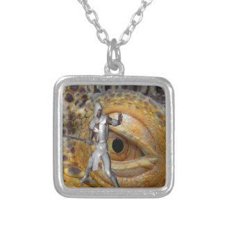 Dragon Slayer Silver Plated Necklace