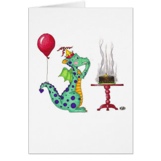 Dragon Smoke Birthday Card