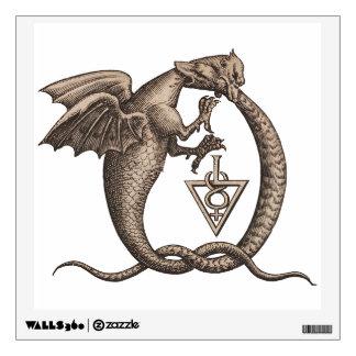 Dragon Snake Sulphur Mercury Symbols Wall Sticker