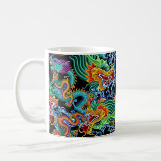 Dragon Storm - colorful Chinese dragons Coffee Mug