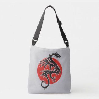 Dragon Sun - black red white + your ideas Crossbody Bag