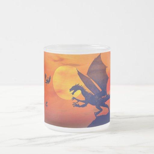 Dragon Sunset Mugs