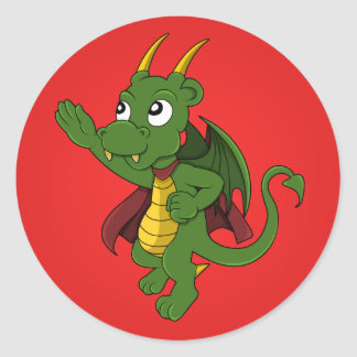 Dragon superhero cartoon Stickers