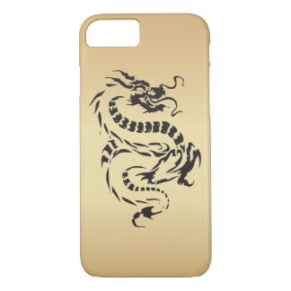 Dragon sur l'or coque iPhone 7