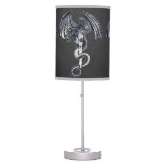 Dragon & Sword Dk. Grey Table Lamp