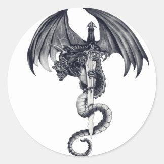Dragon & Sword Stickers