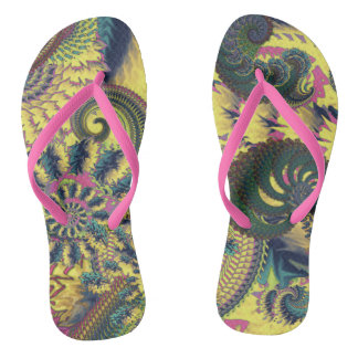 Dragon Tails and Fire Crackers Flip Flops