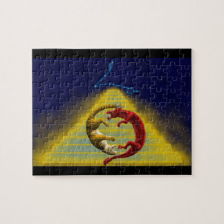 Dragon Tiger Constellation Jigsaw Puzzle