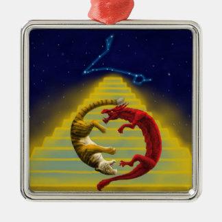 Dragon Tiger Constellation Metal Ornament