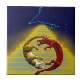 Dragon Tiger Constellation Tile