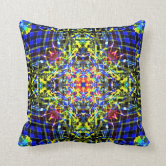 Dragon tongue mandala throw pillow