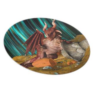 Dragon Treasure Dinner Plates