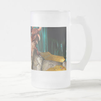 Dragon Treasure Frosted Glass Beer Mug
