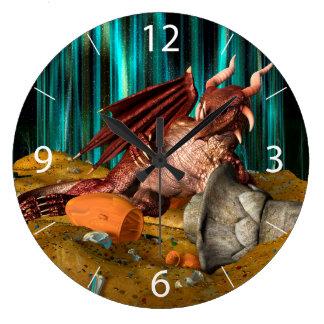 Dragon Treasure Large Clock
