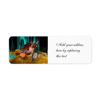 Dragon Treasure Return Address Label